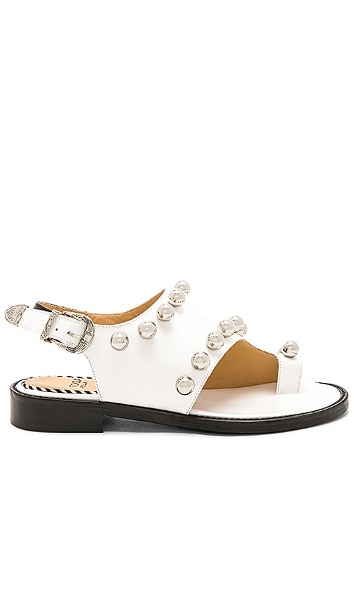 TOGA PULLA Studded Polido Sandal in White