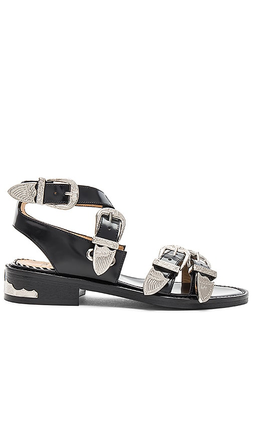 TOGA PULLA Buckle Sandal in Black