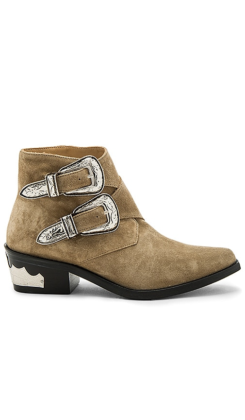 TOGA PULLA Double Bucked Suede Bootie in Tan