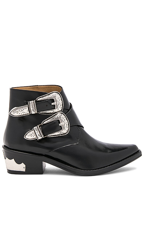 TOGA PULLA Double Buckle Bootie in Black