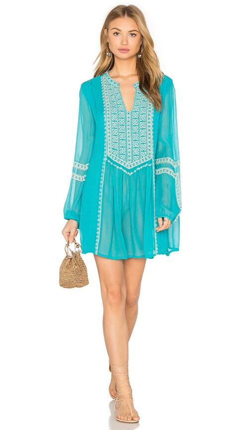 Tolani Lauren Dress in Turquoise
