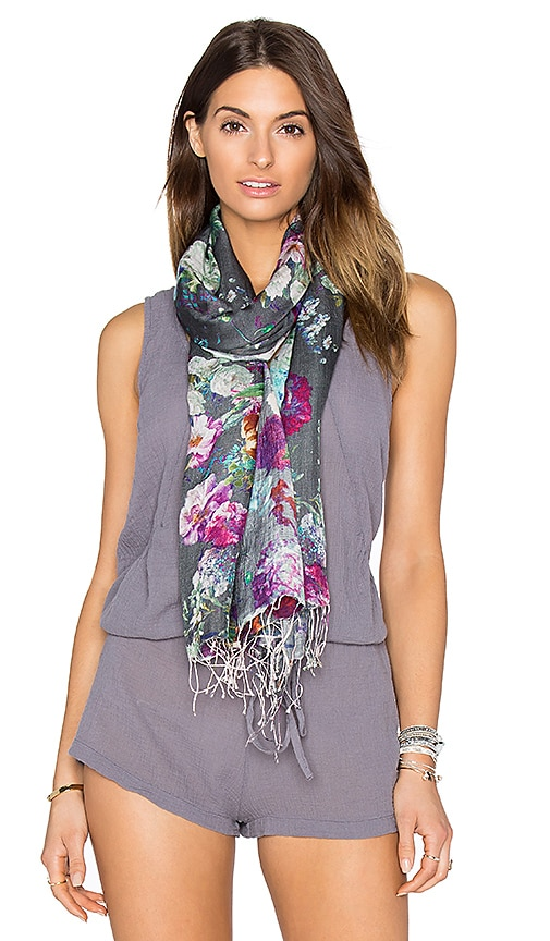 Tolani Botanic Scarf in Grey