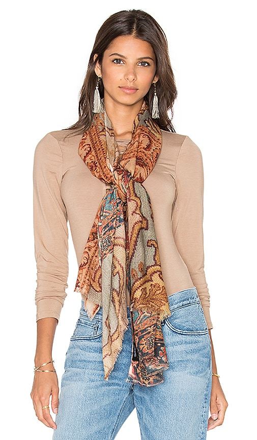 Tolani Antique Scarf in Brown