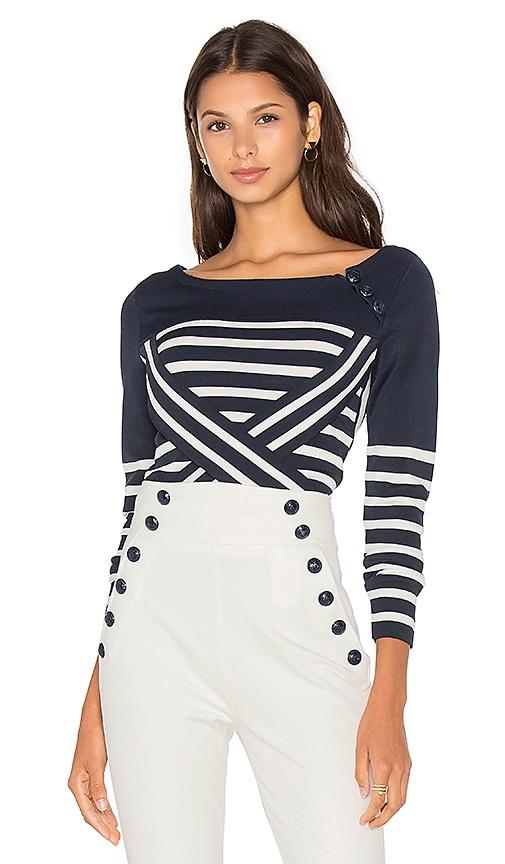 TOMMY x GIGI Technical Stripe Sweater