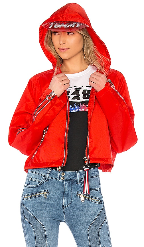 94813131260 Tommy Hilfiger TOMMY X GIGI Gigi Hadid Visor K-Way Jacket in Flame ...