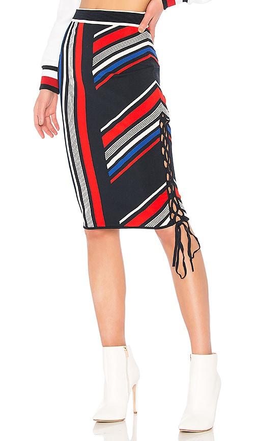 133d46a93c1 Tommy Hilfiger TOMMY X GIGI Gigi Hadid Intarsia Skirt in Midnight ...
