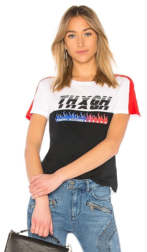 Tommy Hilfiger TOMMY X GIGI Gigi Hadid Speed SS T Shirt in Black ... cef00f9c1