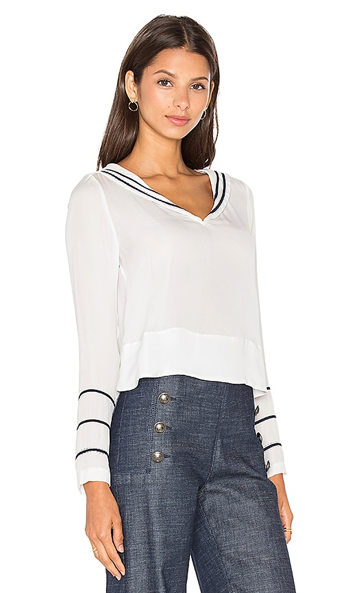 Gigi for Hilfiger Silk Sailor Blouse