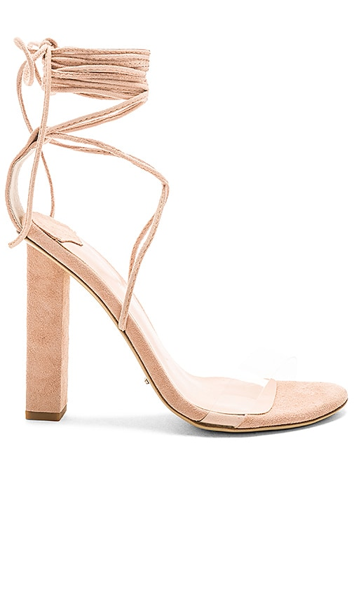 c40915ce7bf Tony Bianco Kendall Heel in Clear Vinalyte   Blush Kid Suede