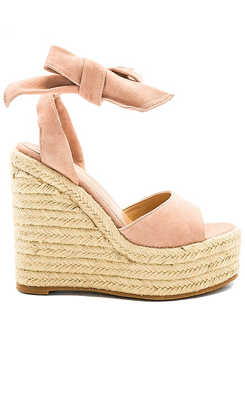 d0fcf267cbe5 Tony Bianco Barca Wedge in Blush Kid Suede