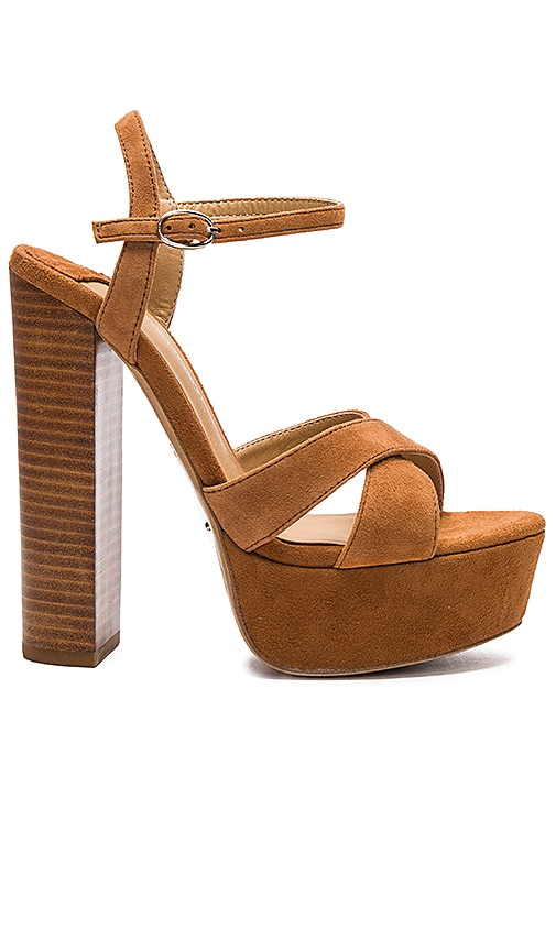Tony Bianco Ashby Heel in Tan Kid Suede