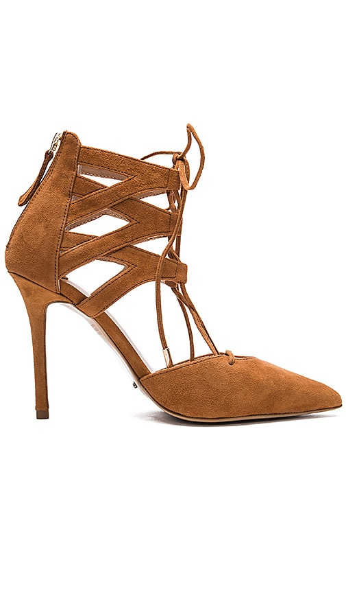 Tony Bianco Dakotah Heel in Tan Kid Suede