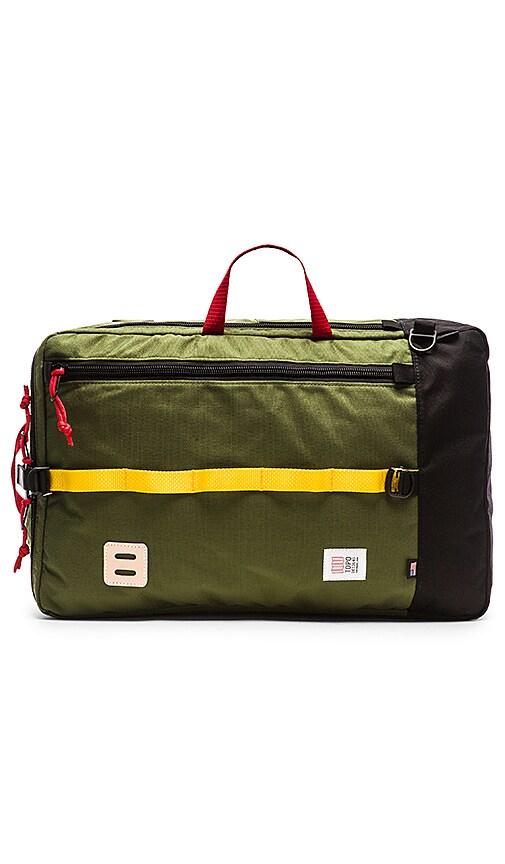 TOPO DESIGNS Travel Bag in Olive & Black