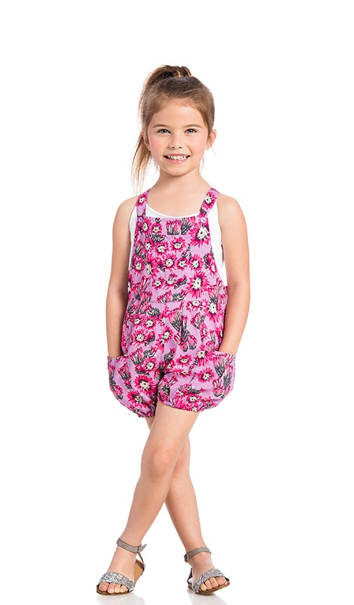 Tori Praver Swimwear Keiki Dahlia Romper in Pink