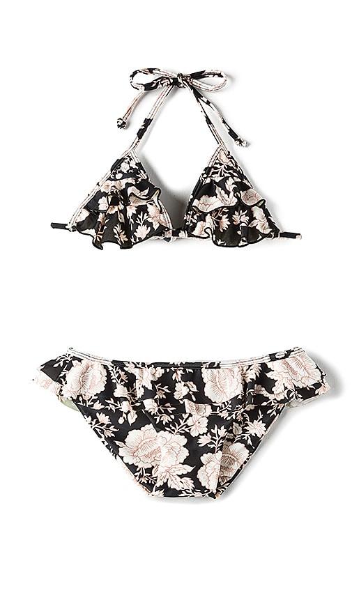 Tori Praver Swimwear Keiki Hula Bikini Set in Black