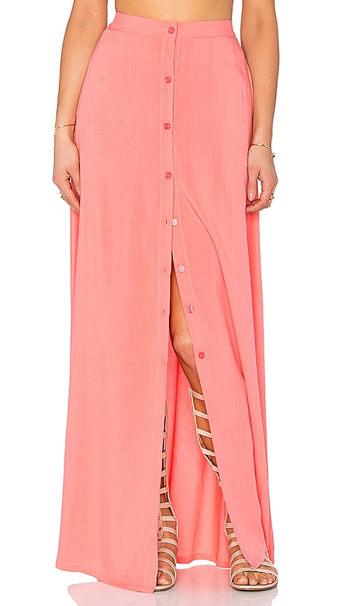 Tori Praver Swimwear Lala Skirt in Coral