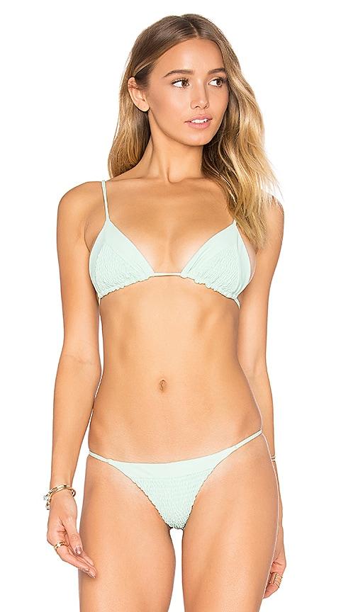 Tori Praver Swimwear Lahaina Bikini Top in Mint
