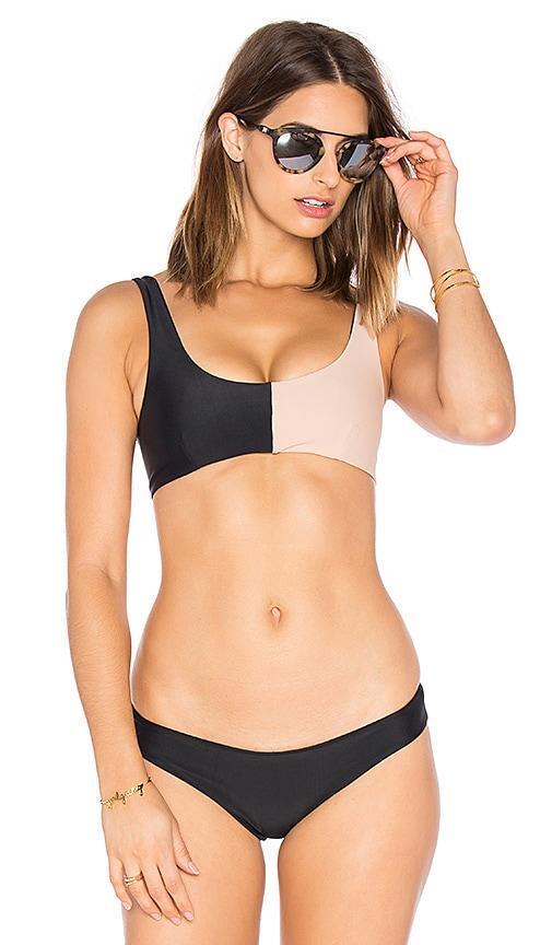 Tori Praver Swimwear Eloisa Bikini Top in Black
