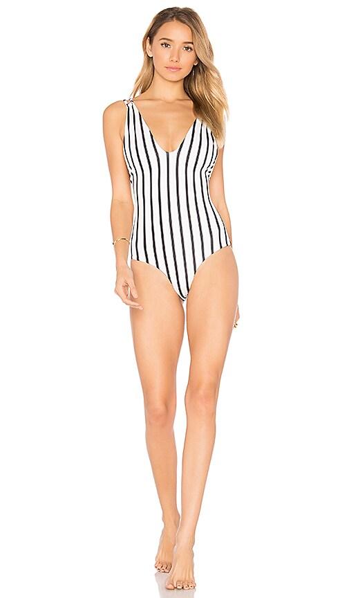 Tori Praver Swimwear Elena One Piece in Ivory