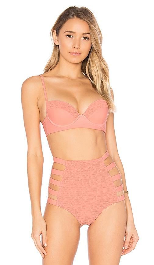 Tori Praver Swimwear Eva Bikini Top in Coral