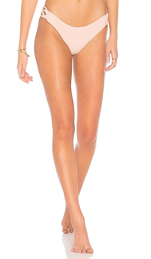 Tori Praver Swimwear Coco Smocked Classic Bottom in Pink