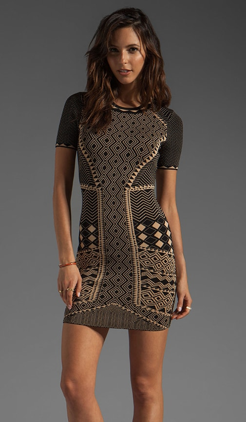 Candy Tribal Jacquard Dress