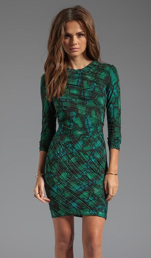 252567627f Tara Pleated Tonal Snake Dress. Tara Pleated Tonal Snake Dress. Torn by Ronny  Kobo