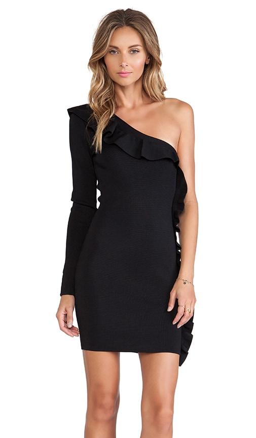 Torn by Ronny Kobo Black One Shoulder Dress