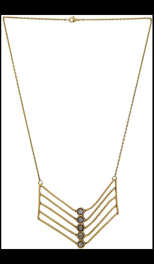 TORCHLIGHT Cassiopeia Necklace in Antique Brass & Moonstone