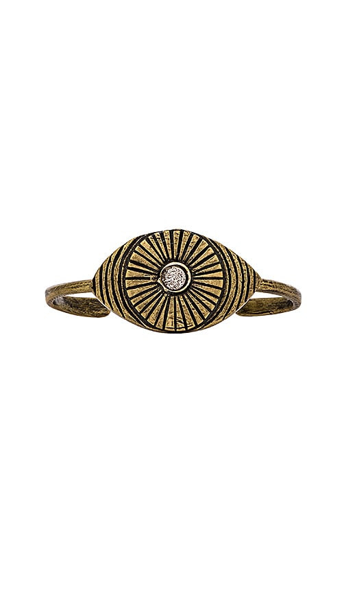 TORCHLIGHT Eye of RA Cuff in Metallic Bronze