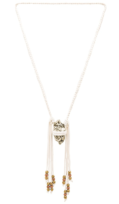 TORCHLIGHT Pyrite Vagabond Necklace in Ivory