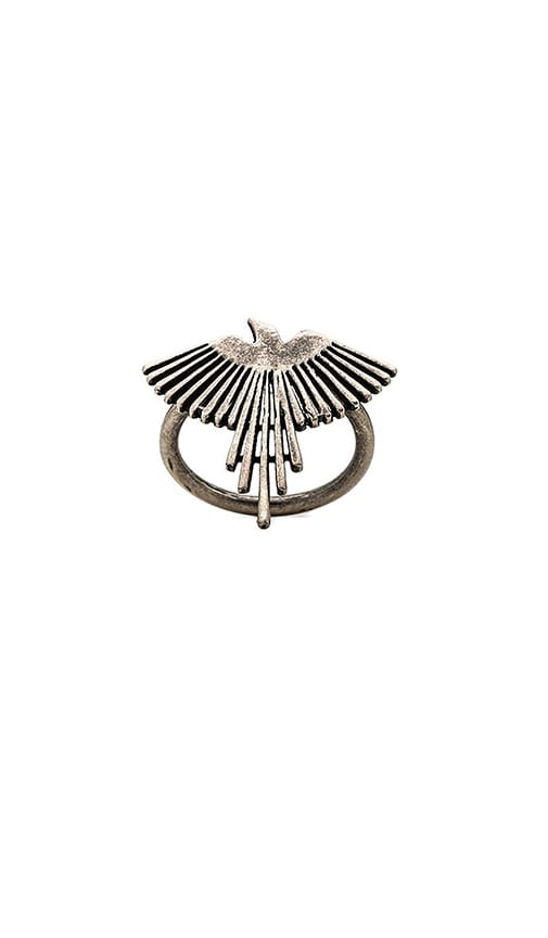 TORCHLIGHT Thunderbird Ring in Metallic Silver