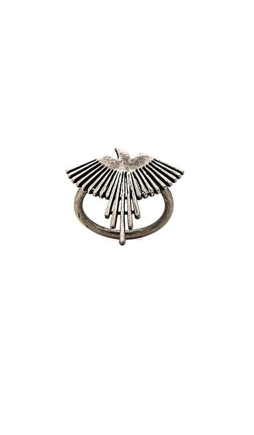 TORCHLIGHT Thunderbird Ring in Metallic Silver