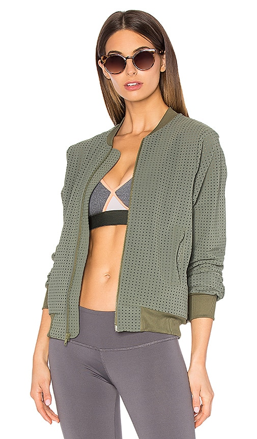 TOUCHE x MORGAN STEWART Brendan Bomber Jacket in Army