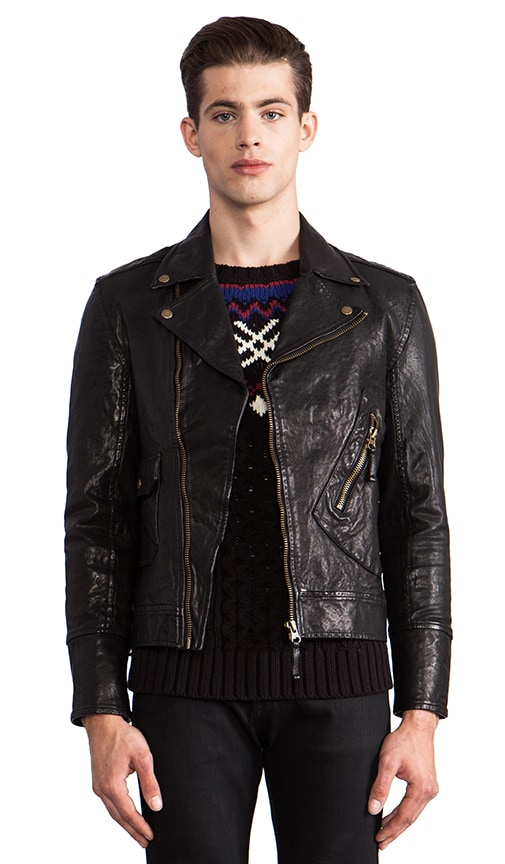 Gil Leather Moto Jacket