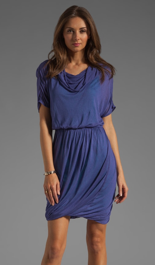 Solid Jersey Cowl Dress