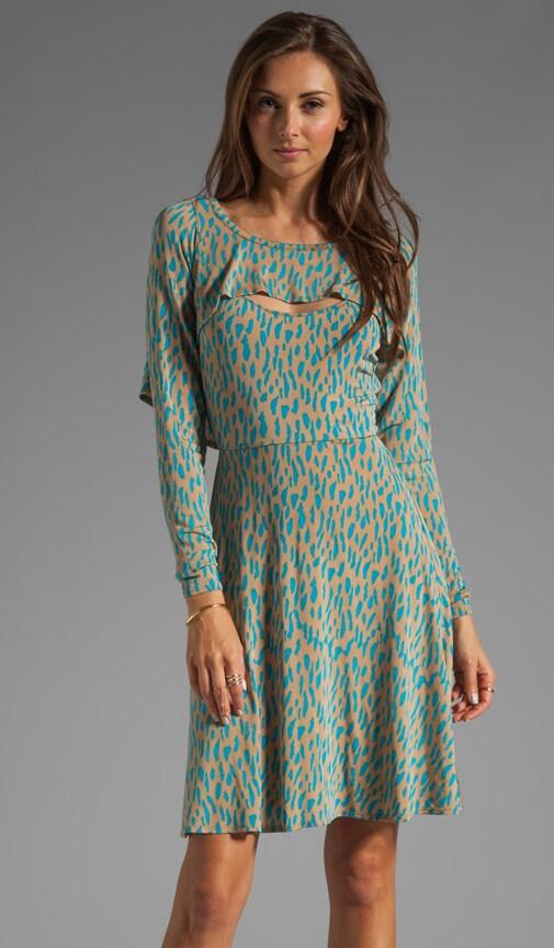 Printed Jersey Bolero Dress