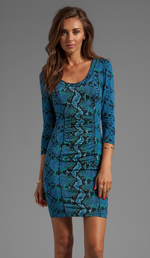 Printed Jersey Matte/Slink Sheath Dress