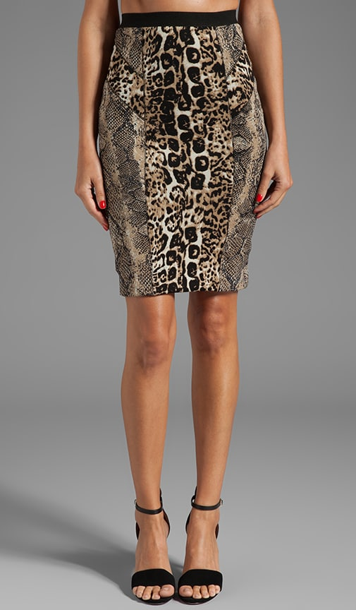 Printed Neoprene Combo Skirt