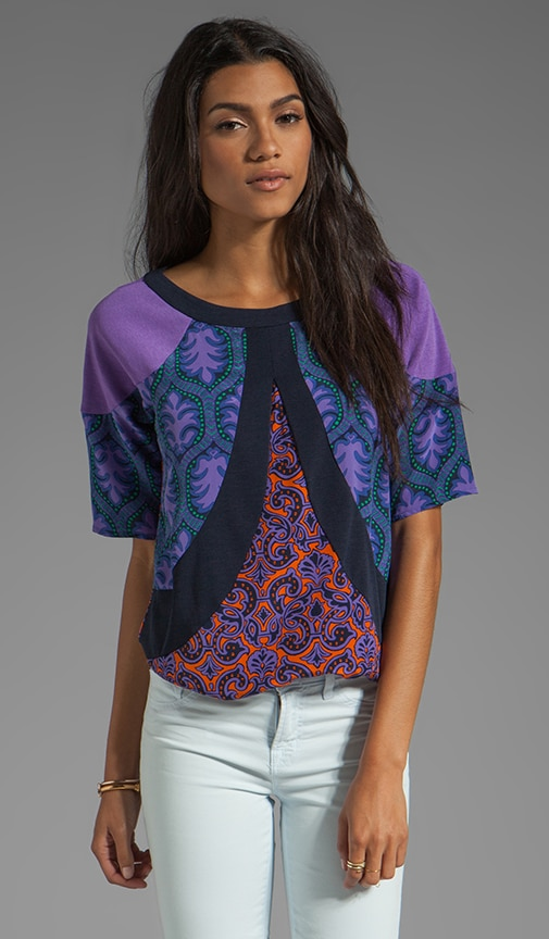 Violet Medallions Combo Blouse