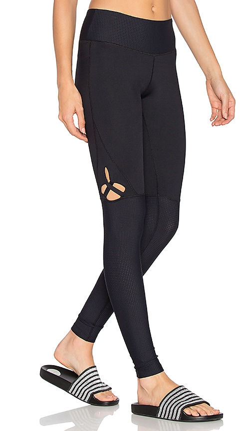 Track & Bliss Star Cut Out Legging in Black