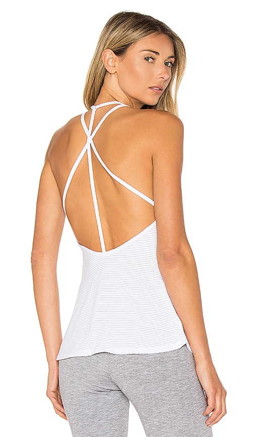 Track & Bliss Scalloped Sweetheart Tank in White
