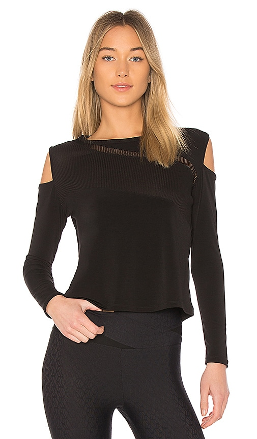Track & Bliss Dark Labyrinth Top in Black