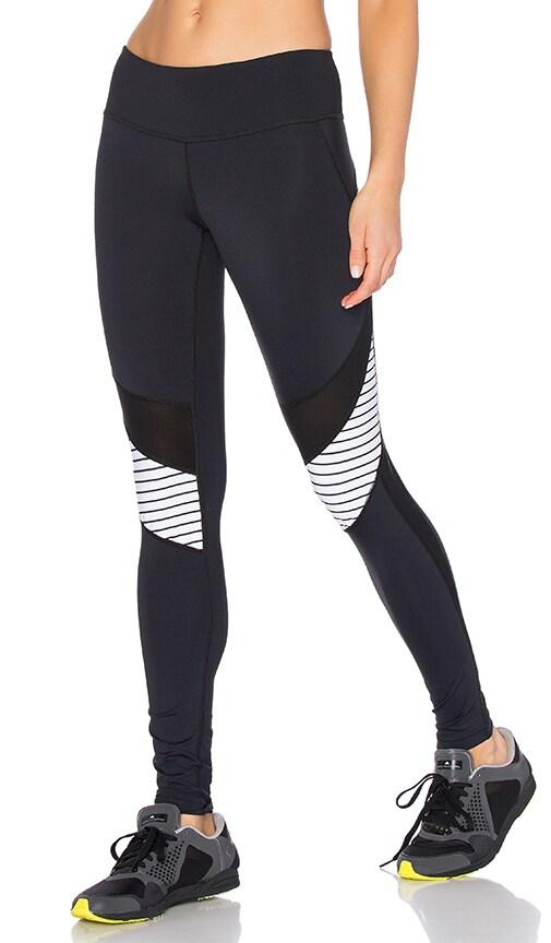 Track & Bliss Illusion Striped Legging in Black & White