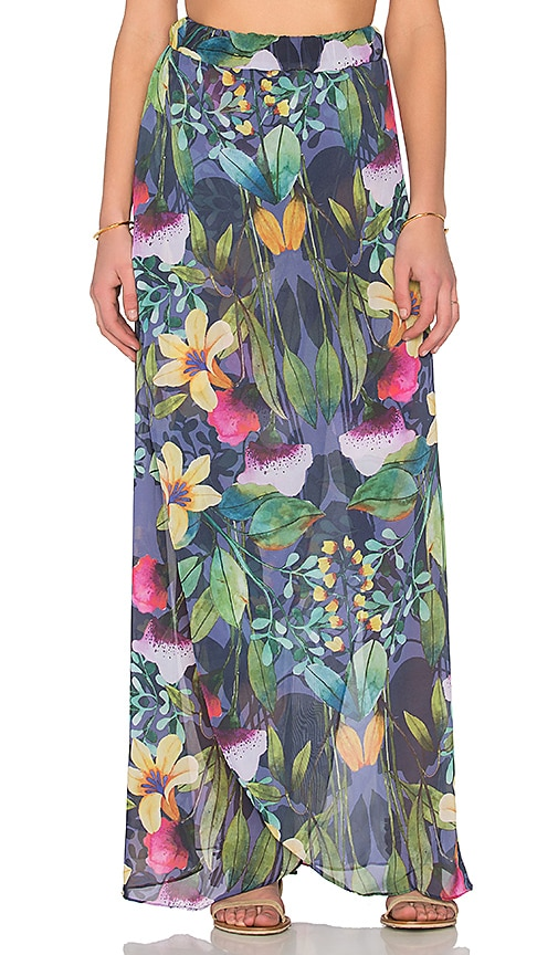 Trejoa Lorabe Maxi Skirt in Royal Garden