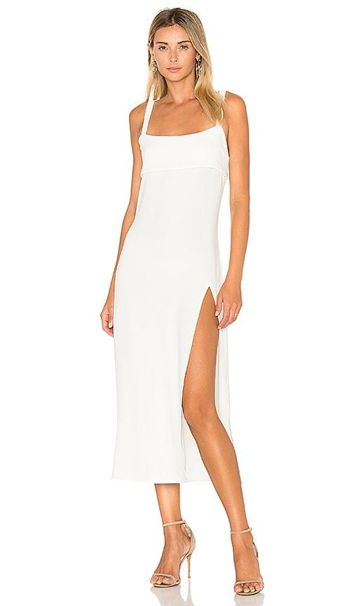 TROIS Crawford Midi Dress in White