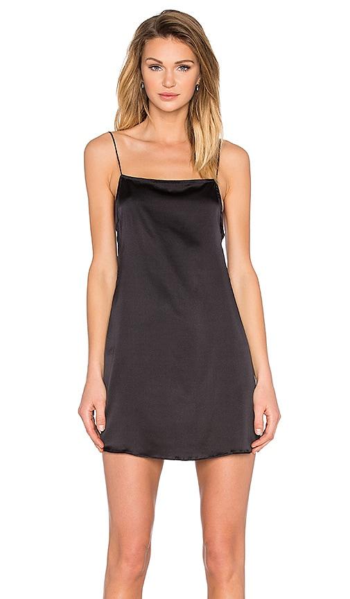 TROIS Claudia Slip Dress in Black
