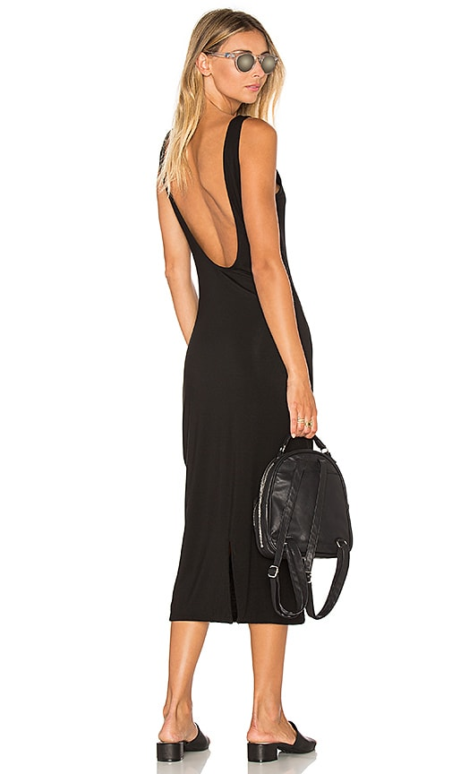 TROIS Klum Midi Dress in Black