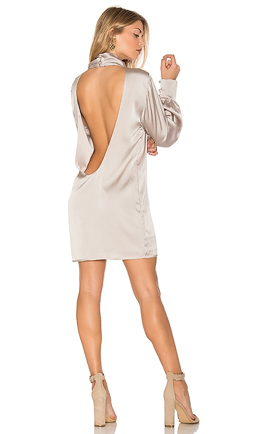 TROIS Beverly Silk Dress in Taupe