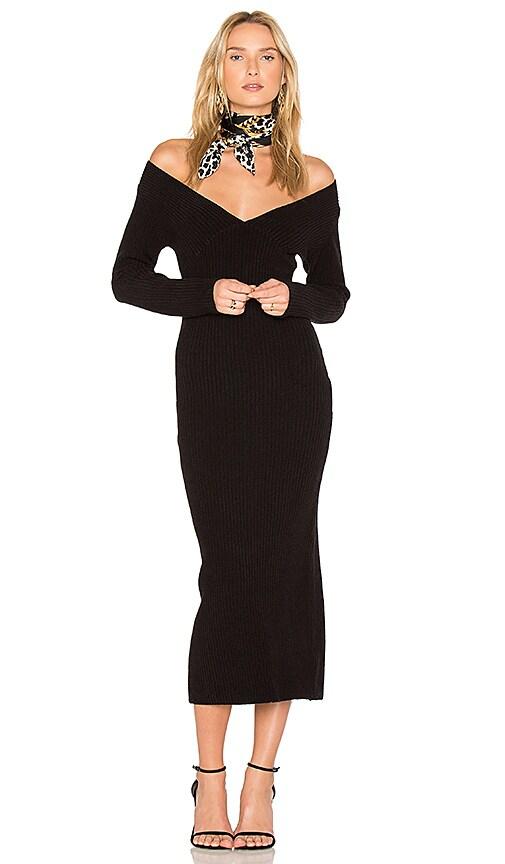 TROIS Devon Knit Dress in Black
